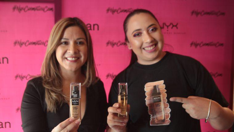 Representantes de la marca NYX Professional Makeup, en la presentación de la nuevas bases de maquillaje,. Foto Norvin Mendoza