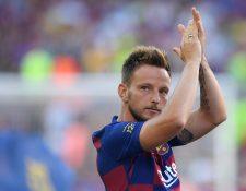 Ivan Rakitic  se siente cómodo en el FC Barcelona. (Foto Prensa Libre: AFP)