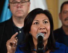 Norma Torres, congresista estadounidense, envió un video para Alejandro Giammattei. (Foto Prensa Libre: AFP)