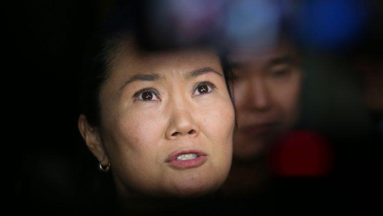 La líder opositora peruana Keiko Fujimori. (Foto Prensa Libre: AFP).