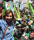 Sandra Torres durante un mitin el 12 de agosto del 2019, cuando competía contra Alejandro Giammattei por la presidencia.  (Foto Prensa Libre: Hemeroteca PL)