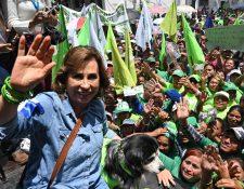 Sandra Torres perdió la segunda vuelta electoral contra Alejandro Giammattei. (Foto Prensa Libre: Hemeroteca PL)