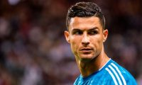 Juventus' forward Cristiano Ronaldo reacts before the International Champions Cup football match between Atletico Madrid v Juventus on August 10, 2019 in Solna outside Stockholm, Sweden. (Photo by Jonathan NACKSTRAND / AFP)