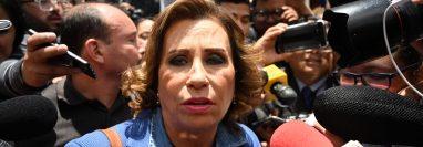 La excandidata política a la presidencia, Sandra Torres. (Foto Prensa Libre: AFP)