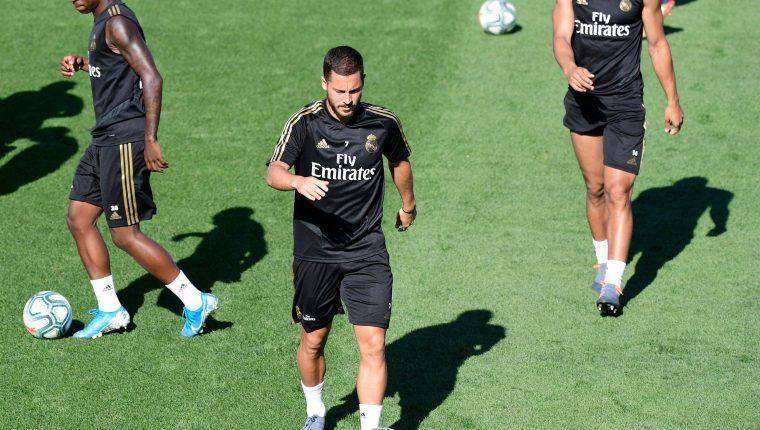 El belga Eden Hazard sufre lesión muscular. (Foto Prensa Libre: AFP)