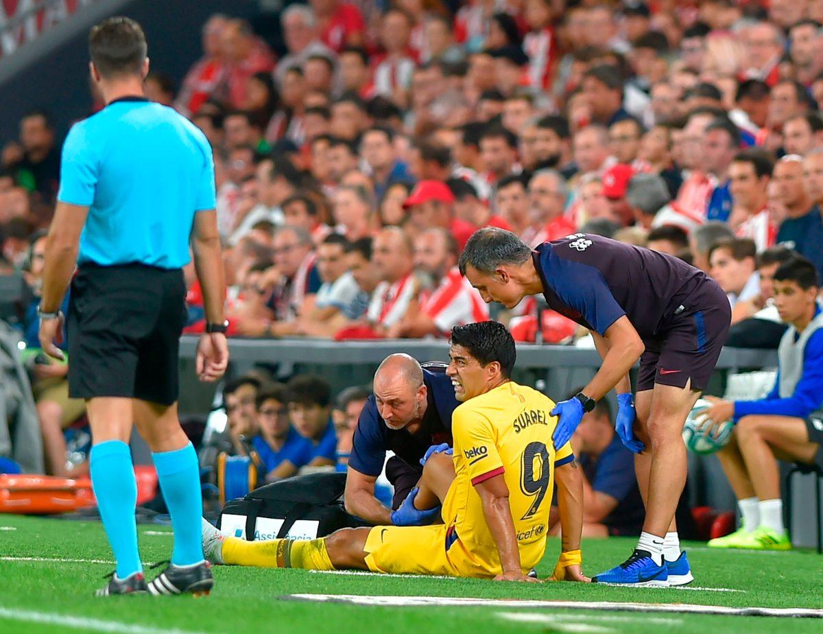 Luis Suárez, sustituido por lesión en el arranque de la Liga española