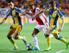 El Ajax no consiguió un marcador favorable en el juego de ida. (Foto Prensa Libre: AFP)