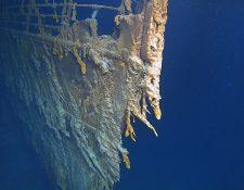 Esta foto fue tomada en agosto de 2019. El Titanic yace en el Atlántico Norte a 13 mil pies de profundidad. (Foto Prensa Libre: AFP)