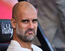 Pep Guardiola, durante el partido contra el Bournemouth. (Foto Prensa Libre: AFP)