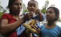 La pérdida de la cosecha de maíz causa que las familias agricultoras se alimenten solo una vez al día o prioricen la comida de los niños. (Foto Prensa Libre: Hemeroteca PL)