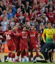 El Liverpool tuvo un inicio soñado gracias a la goleada que le propinó al Norwich City. (Foto Prensa Libre: EFE).