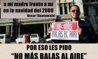 La Asociación Elisa Reyes lidera la campaña para disminuir los disparos al aire. (Foto Prensa Libre: Cortesía)