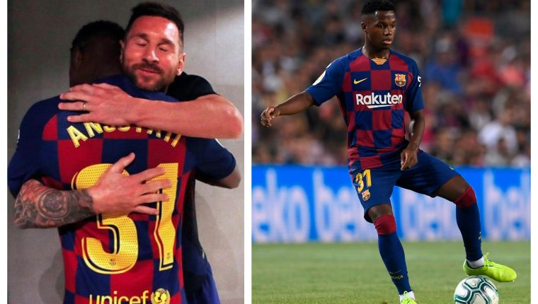 Image result for Messi and Fati