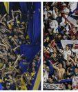Los aficionados de Boca y River podrán disfrutar del clásico en la Libertadores. (Foto Prensa Libre: AFP y EFE)