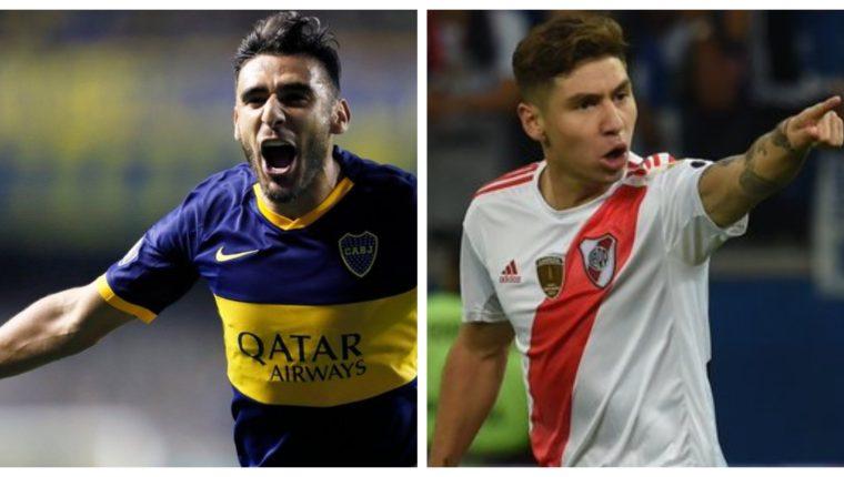 El fin de semana se disputará la segunda jornada del futbol argentino. (Foto Prensa Libre: Twitter Boca Juniors y River Plate)