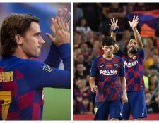 Los jugadores del Barcelona celebraron. (Foto Prensa Libre: EFE y AFP)