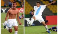 Marvin Ceballos festejó así después del gol contra Croacia en el Mundial Sub 20. (Foto Prensa Libre: Hemeroteca PL)