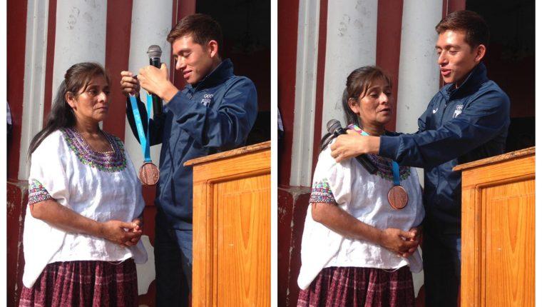 José Alejandro Barrondo le agradeció a su madre y le dedicó el triunfo en Lima 2019. (Foto Prensa Libre: Facebook Mastv GT)