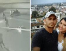 Richard Muñoz junto a su esposa Charlotte Cobos quien falleció en durante un asalto. (Foto Prensa Libre: Facebook de Richard Muñoz)