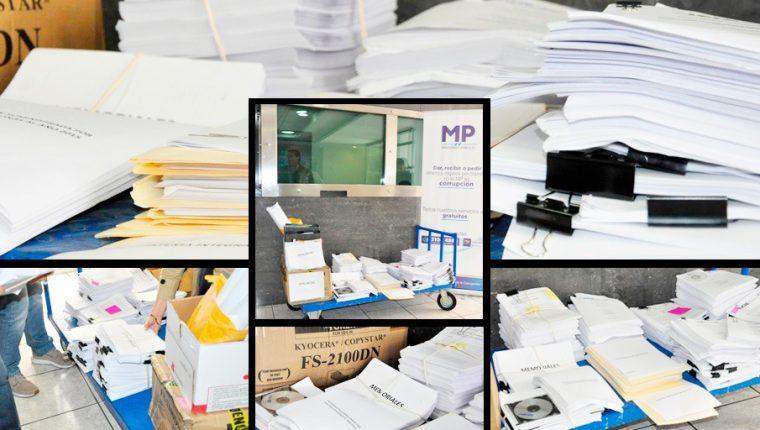 La Cicig entregó los primeros documentos al MP para que continúe con las investigaciones (Foto Prensa Libre: Cortesía Cicig)
