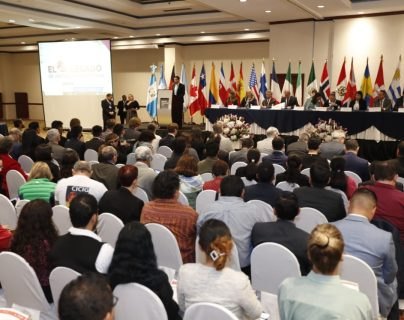 La Cicig presentó su informe final en un hotel de la zona 9 capitalina. (Foto Prensa Libre: Esbin García)