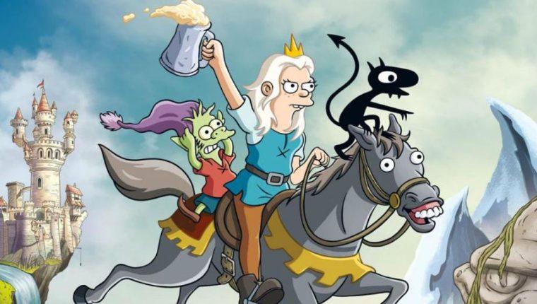 Contextualizada en la época medieval, (Des)encanto fue creada por la mente creativa detrás de Los Simpson, lo que promete momentos de humor ácido y giros impredecibles para los televidentes. Su segunda temporada estará disponible en septiembre. (Foto Prensa Libre: Servicios)