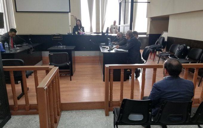 Aifán dicta sentencia a los tres implicados en el caso. (Foto Prensa Libre: Kenneth Monzón)