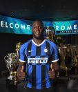 El belga Romelu Lukaku es el fichaje estrella del Inter de Milán de este mercado de verano. (Foto Prensa Libre: @Inter)