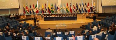 Hemiciclo del Parlamento Centroamericano. (Foto Prensa Libre: Parlacén).