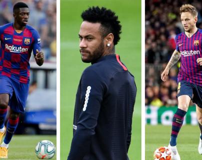 Ousmane Dembélé e Iván Rakitic entrarían en la operación por el fichaje de Neymar. (Foto Prensa Libre: Hemeroteca PL)