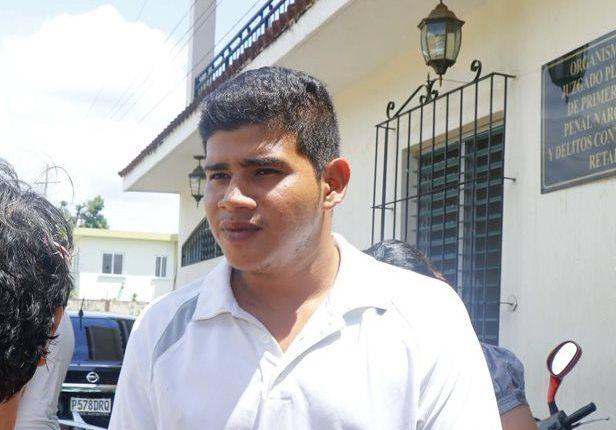 Guilber Josué Barrios luego de la audiencia efectuada en el Juzgado de Retalhuleu en octubre del 2017. (Foto Prensa Libre: Hemeroteca PL)