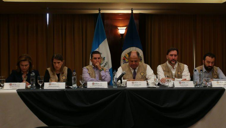 La Misión de Observación Electoral de la OEA entrega su informe preliminar. (Foto Prensa Libre: Manuel Herández)