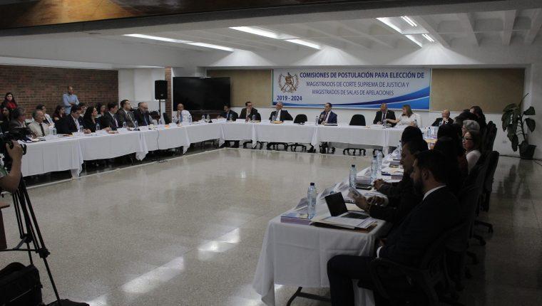 Una de las sesiones de la Comisión de Postulación de Apelaciones. (Foto Prensa Libre: Hemeroteca PL)