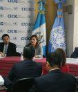 Representantes de la Cicig informan acerca de la corrupción en instituciones del Estado. (Foto Prensa Libre: Juan Diego González).