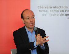 Anko Van Der Werff, nuevo CEO de Avianca, presentó este jueves su plan de trabajo en Bogotá, Colombia. (Foto Prensa Libre: Juan Diego González)