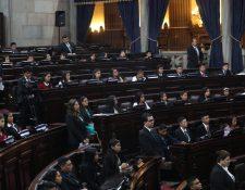 Jóvenes diputados por un día en sesión en el Congreso de la República. (Foto Prensa Libre:  Erick Ávila).