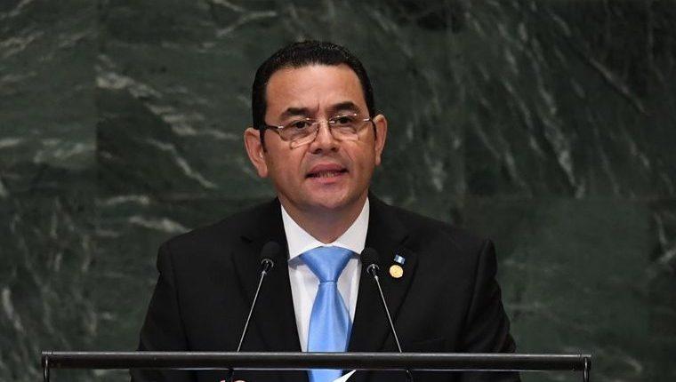 El presidente Jimmy Morales acudió a la asamblea de la ONU en septiembre del 2018, donde criticó a su secretario general. (Foto Prensa Libre: Hemeroteca PL)