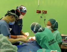 Las cirugías de labio leporino no tienen consto y los médicos le dan seguimiento a los casos hasta garantizar la recuperación de los pacientes. (Foto Prensa Libre: Cortesía)