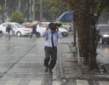 La lluvia continúa en todo el territorio nacional. (Foto Prensa Libre: Hemeroteca)