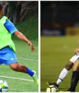 Pedro Altán y Alejandro Galindo deberán tomar el rol de creativo en la Bicolor. (Foto Prensa Libre: Luis López y Carlos Vicente)