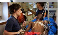 Tres de los migrantes rescatados por el Alan Kurdi requerían asistencia médica urgente.