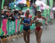 Mirna Ortiz al momento de ingresar a la meta, en los juegos de Lima 2019. (Foto Prensa Libre: Carlos Vicente)