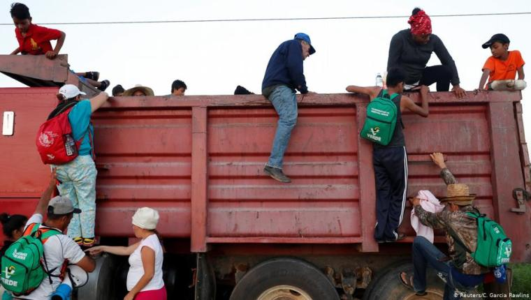 Muchos migrantes atraviesan México en condiciones peligrosas. (Foto Prensa Libre: Hemeroteca PL).