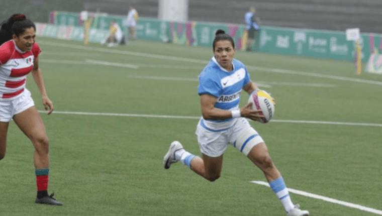 María Paula Pedrozo juega para el equipo de rugby femenino de Argentina. (Foto Prensa Libre: Unión Argentina de Rugby)