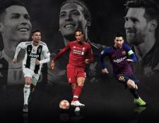 Cristiano Ronaldo, Virigl van Dijk y Lionel Messi pelean por ser el Mejor del Año de la Uefa. (Foto Prensa Libre: Uefa)