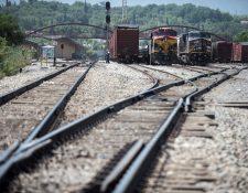 """Antigua Estación del ferrocarril en Saltillo, Coahuila, México, utilizada por migrantes para viajar a lomo de """"la Bestia"""" rumbo a la frontera estadounidense. (Foto Prensa Libre: EFE)."""