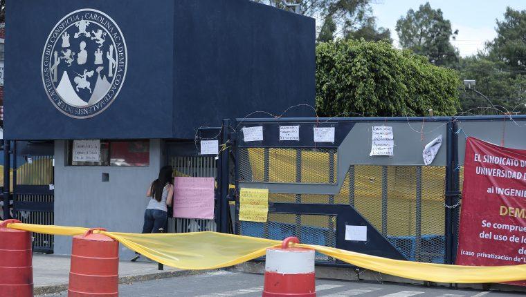 Las instalaciones de la Usac se encuentran cerradas desde el 29 de julio. (Foto Prensa Libre: Juan Diego González)