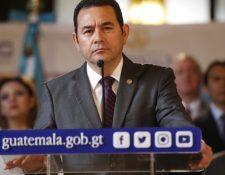 Jimmy Morales, presiente de Guatemala. (Foto Prensa Libre: Hemeroteca PL)