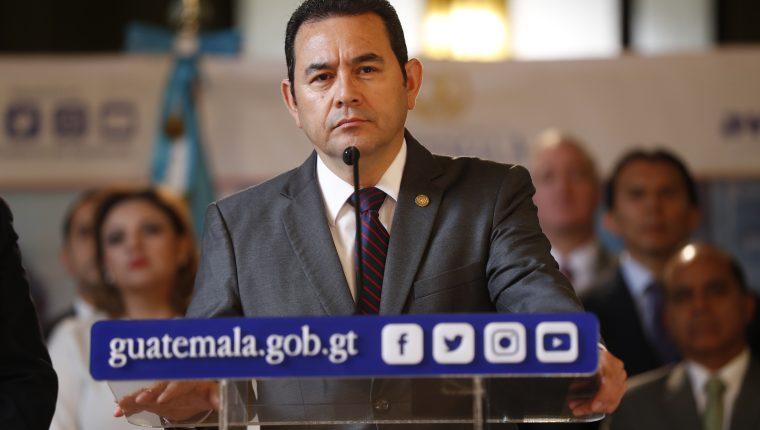 El presidente Jimmy Morales dejará el cargo como uno de los peores calificados de la era democrática. (Foto Prensa Libre: Esbin García)