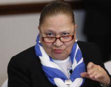 María Consuelo Porras, fiscal General del Ministerio Público. (Foto Prensa Libre: Esbin García)